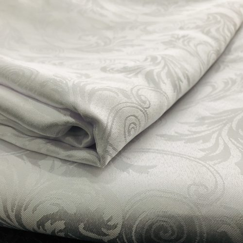 Damask White Tablecloth